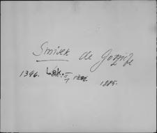 Kartoteka Słownika staropolskich nazw osobowych; Smysz - Sof