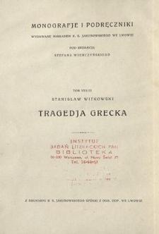 Tragedja grecka. T. 1