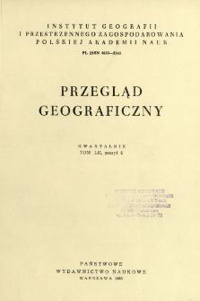 Przegląd Geograficzny T. 52 z. 4 (1980)