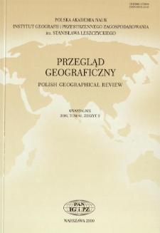 Przegląd Geograficzny T. 81 z. 2 (2009), Spis treści