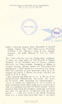 Oxford University Hudson Strait Expedition to Akpatok Island, Ungava Bay, 1931 : Hymenoptera Parasitica, including a few Specimens taken at Port Burwell, Labrador