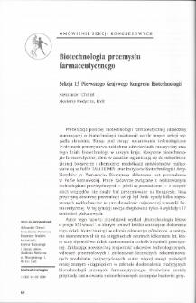 Biotechnologia przemysłu farmaceutycznego