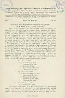 Synopsis der Aleyatliripidae (Thysanoptera)