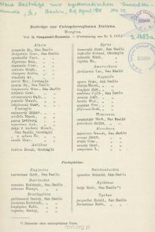 Beiträge zur Coleopterenfauna Italiens : [Fortsetzung aus Nr 9, 1917 - Schluß aus Nr 12]