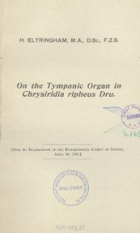On the tympanic organ in Chrysiridia ripheus Dru