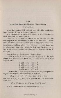 Aus den Gruppen-Studien (1855-1858)