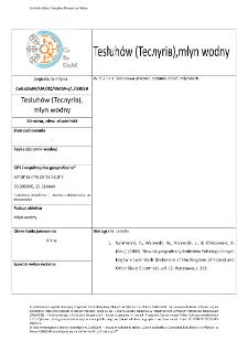 Tesłuhów (Теслугів), młyn wodny