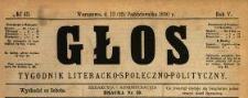 Głos : tygodnik literacko-społeczno-polityczny 1890 N.43