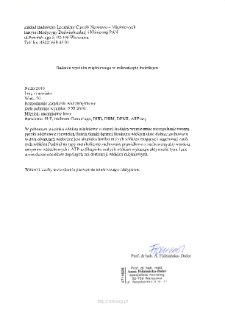 Kartoteka przypadków klinicznych chorób nerwowo-mięśniowych (2010) - opis nr 26/10