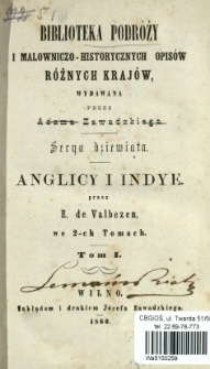 Anglicy i Indye : we 2-ch tomach. T. 1
