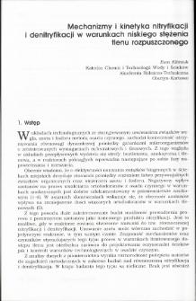 Mechanizmy i kinetyka nitryfikacj ii denitryfikacji w warunkach niskiego stężenia tlenu rozpuszczonego