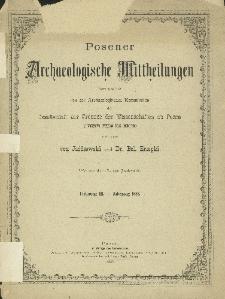 Posener Archaeologische Mittheilungen Jg. 3 (1888)