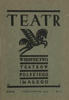 Teatr : wydawnictwo Teatru Polskiego 1930/1931 N.2