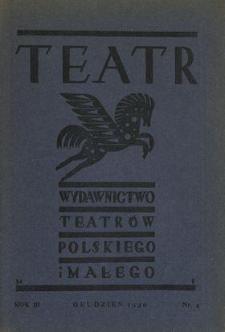 Teatr : wydawnictwo Teatru Polskiego 1930/1931 N.4