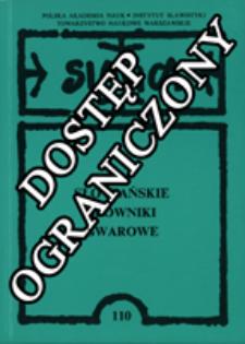 Słowiańskie słowniki gwarowe