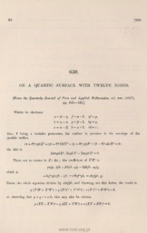 On a quartic surface with twelve nodes
