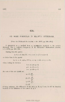 On some formulae in elliptic integrals
