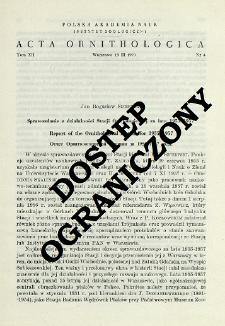 Sprawozdanie z działalności Stacji Ornitologicznej za lata 1955-1957