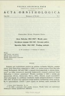 Akcja Bałtycka 1961-1967 : metody pracy