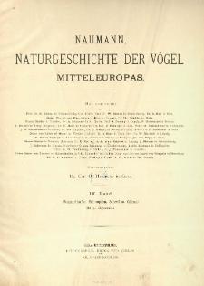 Naumann, Naturgeschichte der Vögel Mitteleuropas. neu bearbeitet R. Blasius [et al.] 9 Band ; Wasserläufer, Schnepfen, Schwäne, Gänse :