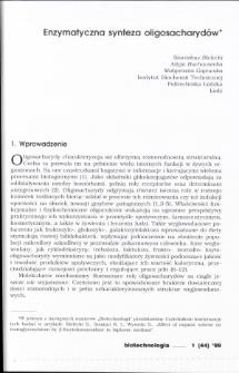 Enzymatyczna synteza oligosacharydów