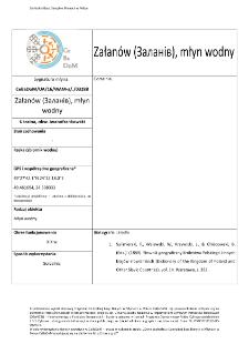 Centralna Baza Danych o Młynach w Polsce