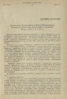 Sympozjum Europejskiej Komisji Ekonomicznej na temat problemów środowiska człowieka (Praga, CSRS, 2-15 V 1971 r.)