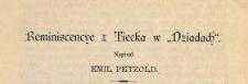 """Reminiscencye z Tiecka w """"Dziadach"""""""