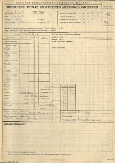 Miesięczny wykaz spostrzeżeń meteorologicznych. Maj 1987