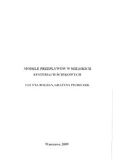 Modele przepływów w miejskich systemach ściekowych