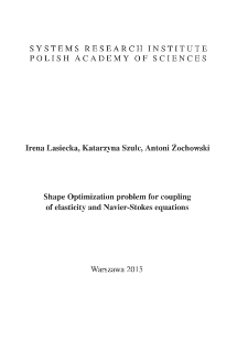 Shape optimization problem for coupling of elasticity and navier-stokes equations