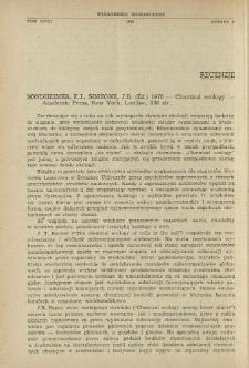 Sondheimer, E.J., Simeone, J.B. (Ed.) 1970 - Chemical ecology - Academic Press, New York, London, 336 str.