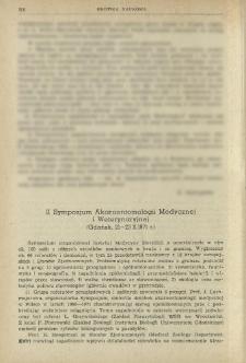 II Sympozjum Akaroentomologii Medycznej i Weterynaryjnej (Gdańsk, 21-23 X 1971 r.)