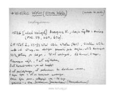 Warszawa-Wola. Kartoteka powiatu warszawskiego w średniowieczu. Kartoteka Słownika historyczno-geograficznego Mazowsza w średniowieczu