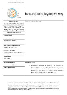 Kawonówka (Kavunivka,Кавунівка), watermill