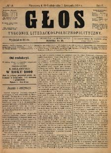 Głos : tygodnik literacko-społeczno-polityczny 1890 N.44