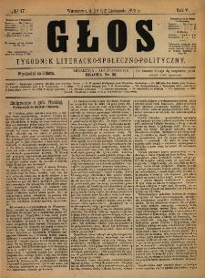 Głos : tygodnik literacko-społeczno-polityczny 1890 N.47