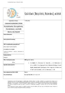 Kosiakówka (Kosyakivka,Косяківка), wiatrak
