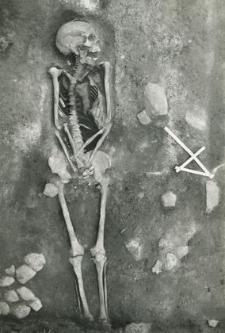 Grave 2-88, human skeleton
