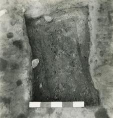 Grave 4-88, burial cut, coffin contours