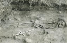 Grave 2-88,inhumation - skeleton, in the burial cut