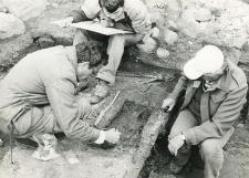 Grave 1-85, exploration works (T. Baranowski, L. Gajewski and drawer)