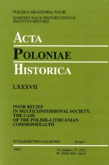 Acta Poloniae Historica T. 87 (2003), News