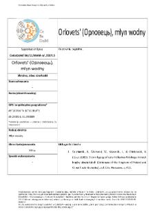 Orlovets' (Орловець), młyn wodny