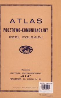 Atlas pocztowo-komunikacyjny Rzpl. Polskiej