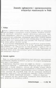 Zasady zgłaszania i opracowywania ekspertyz naukowych w PAN