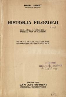 Historja filozofji