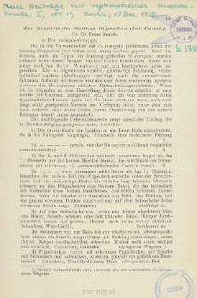 Zur Kenntnis der Gattung Oxynodera (Col. Cassid.)