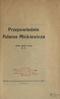 Przepowiednie Adama Mickiewicza