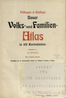 Velhagen & Klasings Neuer Volks- und Familien-Atlas : in 102 Kartenseiten